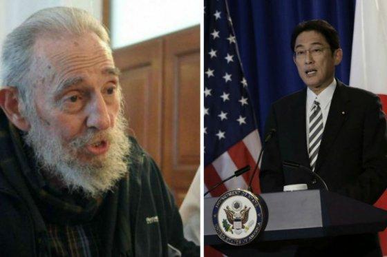 Fidel Castro und Fumio Kishida