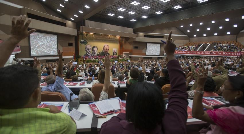 18/04/2016 - Havana, Cuba - Plenario del VII Congreso del Partido Comunista de Cuba con Raúl Castro. Ruz, su primer secretario. Foto: Ismael Francisco/ Cuba Debate